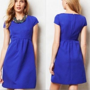 HD in Paris blue capped sleeved dress